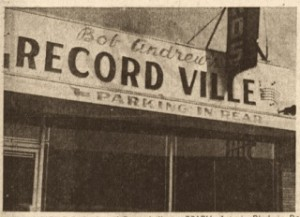 1954 RECORDVILLE SIGN